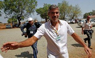 George Clooney, à Juba, au Sud-Soudan, le 9 janvier 2011.