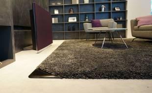 Le salon Panasonic de demain a fait disparaître le home cinéma: les enceintes sont intégrées au tapis!