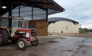 Illustration d'un méthaniseur ici installé dans une ferme dans l'Orne.