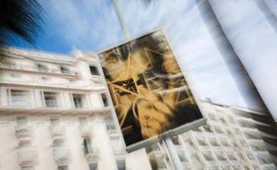 L'affiche du 67e Festival de cinéma le 12 mai 2014 sur la Croisette à Cannes