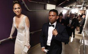 Jennifer Lopez avec Benny Medina, le 26 février 2012.