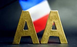 Le double AA sur un drapeau français