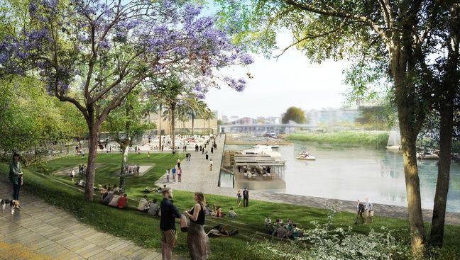 Les aménagements futurs du bassin Saint-Félix (dessin d'intention).