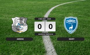 Ligue 2, 37ème journée: Match nul entre Amiens et Niort (0-0)
