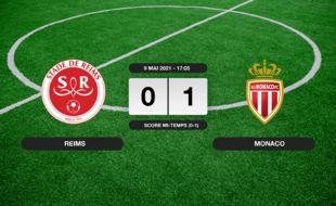 Stade de Reims - Monaco: Monaco vainqueur du Stade de Reims 1 à 0 au stade Auguste-Delaune