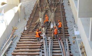 Marseille, le 11 juin 2015, visite du chantier de la station de métro du Capitaine Gèze.