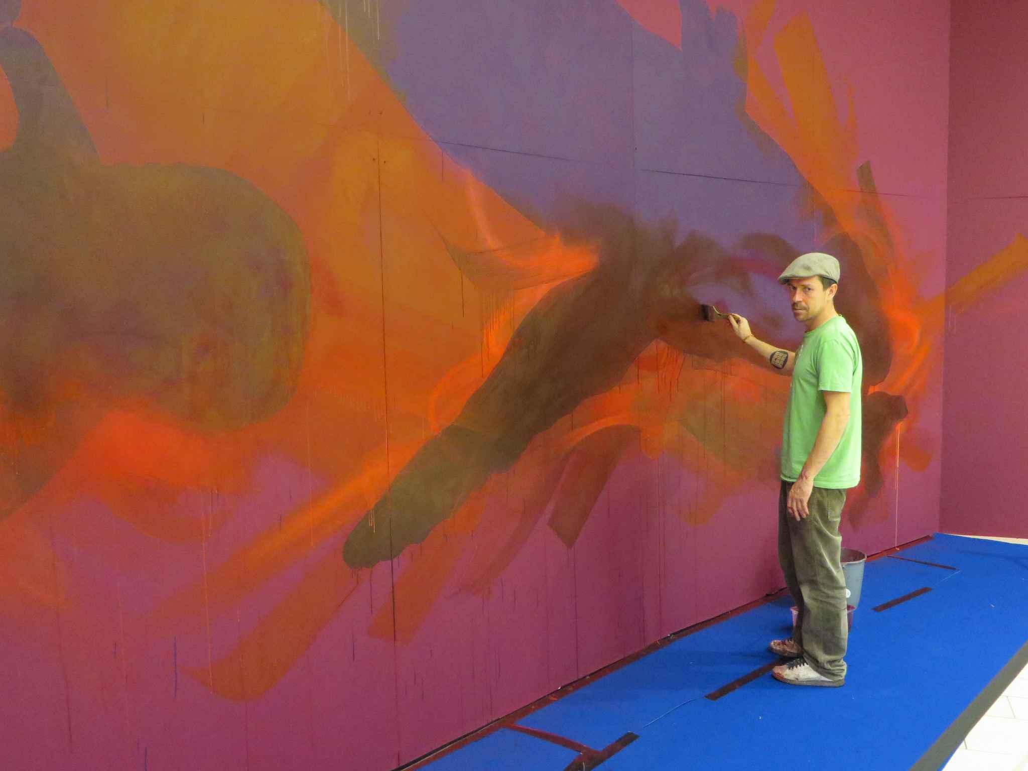 Strasbourg dan23 s 39 attaque une fresque de 130m2 riv toile - Centre commercial rivetoile strasbourg ...