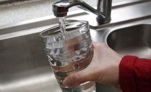 Lille, le 24 fevrier 2013. Illustration sur l'eau du robinet.