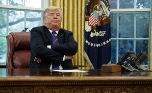 Donald Trump dans le bureau ovale de la Maison Blanche, le 27 août 2018 (illustration).