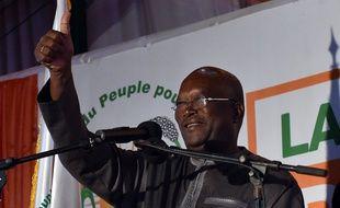 Roch Marc Christian Kaboré le 1er décembre 2015 le soir de sa victoire à la présidentielle burkinabée.