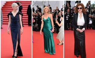 Michelle Williams en Vuitton,  Robin Wright  parée par Cartier et Susan Sarandon en Chanel.