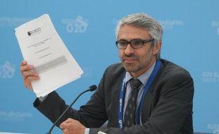 Pascal Saint-Amans, directeur du centre de politique et d'administration fiscale responsable du dossier à l'Organisation de coopération et de développement économiques (OCDE) au sommet du G20 à Saint Petersbourg, en Russie le 4 septembre 2013