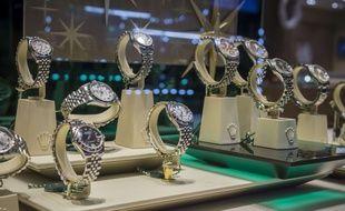 Des montres de luxe dans une bijouterie new-yorkaise (illustration).