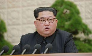 Conférence de presse du leader de la Corée du Nord Kim Jong-un le 20 avril 2018.
