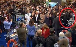 Manuel Valls rejoint le plateau de Midi en France le 23 février 2015.