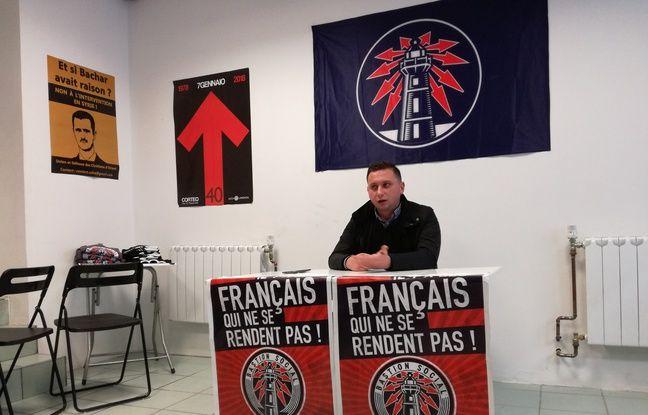 Steven Bissuel, le président du mouvement identitaire du Bastion social de passage à Strasbourg.