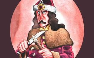 Détail de la couverture de la BD consacrée au vrai Dracula