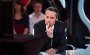 Yann Barthès sur le plateau du «Petit Journal», le 16 mars 2012.