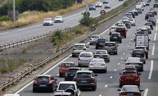 Un embouteillage au sud de Paris le 3 juillet 2015.