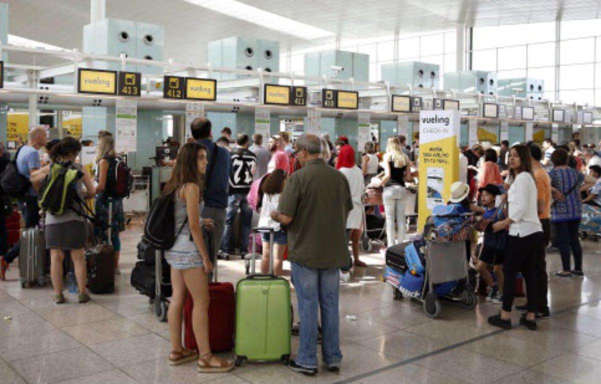 Vueling a annulé 66 vols en raison de la grève des contrôleurs aériens en France le 5 juillet 2016 – Andreu Dalmau/SIPA