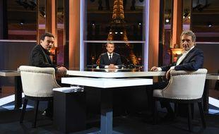 Edwy Plenel et Jean-Jacques Bourdin face à Emmanuel Macron dimanche.