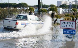Les inondations sont nombreuses sur aux intempéries de la nuit, comme ici dans l'Hérault.