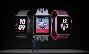 L'Apple Watch Series 3 sera disponible le 19 septembre.
