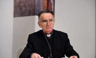 L'archevêque de Marseille et président de la conférence épiscopale de France Georges Pontier lors de l'assemblée des evâques à Lourdes le 4 novembre 2014