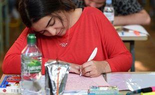 Une candidate au bac le 17 juin 2019 au lycée Pasteur de Strasbourg.