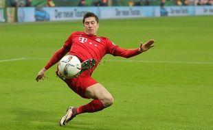 Robert Lewandowski lors du match entre le Bayern Munich et Darmstadt le 15 décembre 2015.