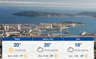 Météo Toulon: Prévisions du vendredi 29 mai 2020