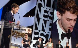 Xavier Dolan à la cérémonie de clôture du festival de Cannes 2014