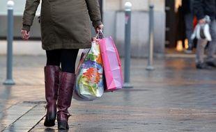 Ouverture des soldes d'hiver dans les boutiques du centre ville de LIlle, le 9 janvier 2013.