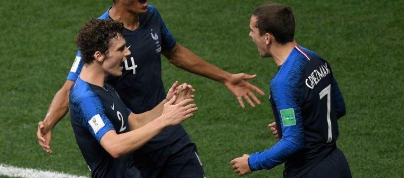 La joie des Français lors de la finale de la Coupe du monde contre la Croatie, le 15 juillet 2018.