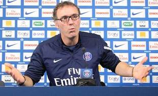Laurent Blanc, l'entraîneur du PSG, le 4 novembre 2013 au Parc des Princes.