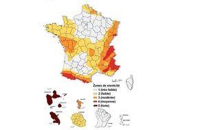 Les derniers séismes en Nouvelle Aquitaine ne remettent pas en cause la carte de la sismicité en France.