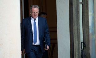 Richard Ferrand, à la sortie du Conseil des ministres, le 31 mai 2017.