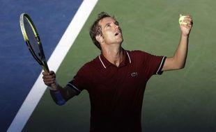 Richard Gasquet, après sa victoire contre David Ferrer en cinq sets en quart de finale de l'US Open, le 4 septembre 2013.