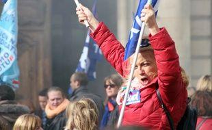Des agents territoriaux ont manifesté mardi 13 octobre à Rennes.