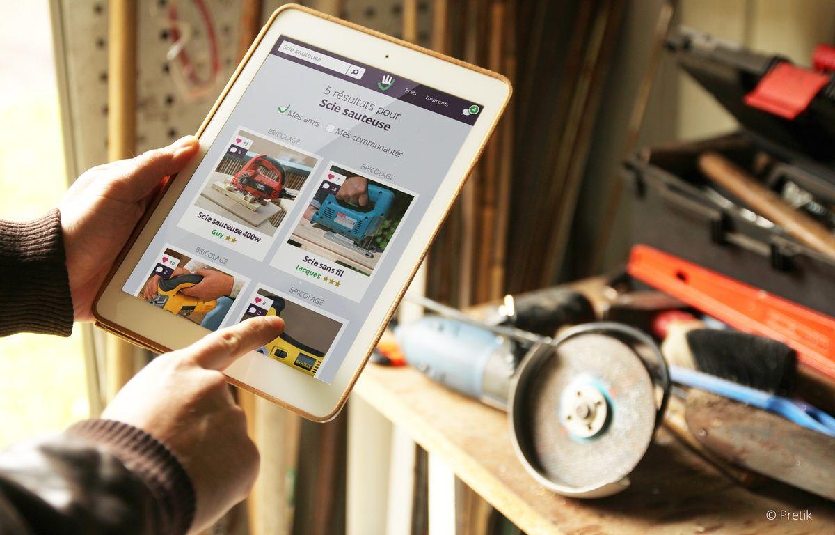 Le site internet pretik.org propose aux internautes de se prêter des objets plutôt que de les louer ou les acheter. – Pretik.org