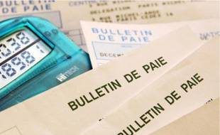 Bulletin de paie, image d'illustration.