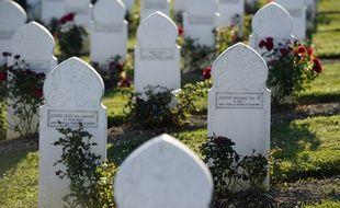 Le carré musulman du cimetière de Douaumont, où reposent des soldats français tombés lors de la Première guerre mondiale