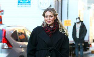 L'actrice Hilary Duff dans les rues de New York