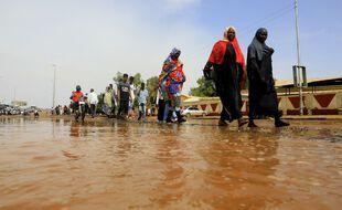 Des inondations à Khartoum au Soudan, le 6 septembre 2021 (illustration).