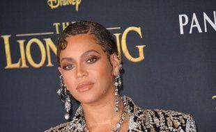 La chanteuse Beyoncé à l'avant-première du Roi Lion à Los Angeles