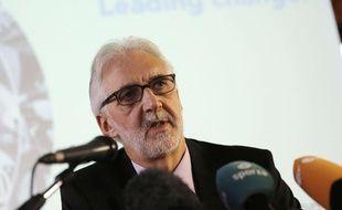 Le nouveau président de l'UCI, Brian Cookson, élu le 27 septembre 2013 à Florence, en Italie.