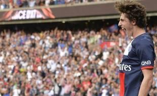 Le milieu de terrain aprisien Adrien Rabiot, formé au PSG, le 31 août 2013, contre Guingamp, au Parc des Princes.
