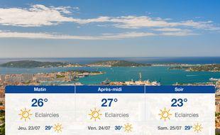 Météo Toulon: Prévisions du mercredi 22 juillet 2020