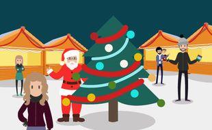 Illustration Marchés de Noël