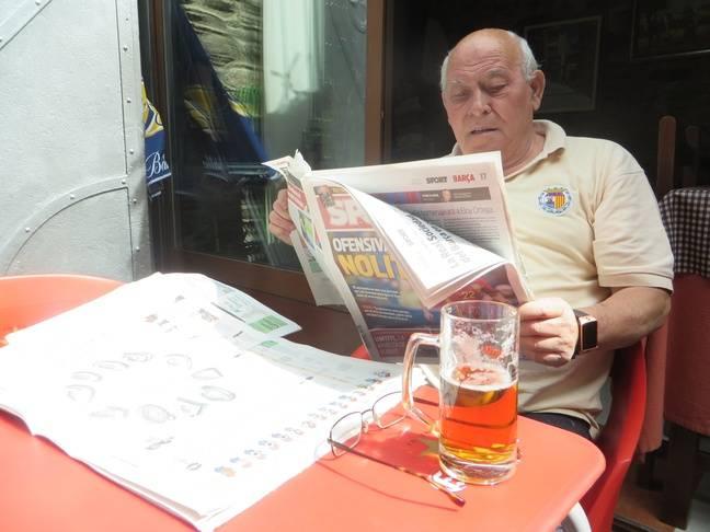 José Antonio Gil, propriétaire de l'Hostal Ruso, n'a rien contre la sélection espagnole.